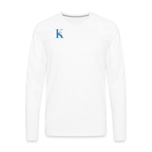 Initial Rose - Men's Premium Long Sleeve T-Shirt