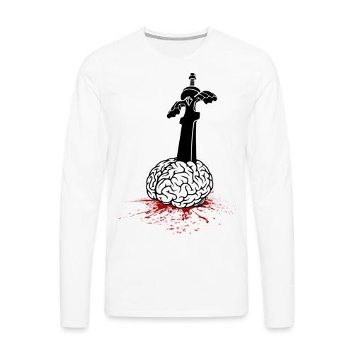 Sword in Brain - Men's Premium Long Sleeve T-Shirt