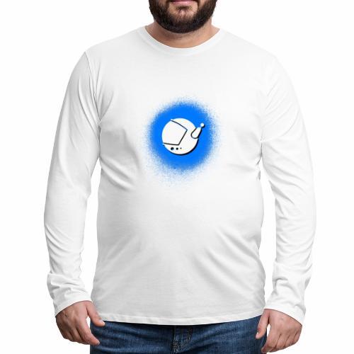 Blue Spray Paint Logo - Men's Premium Long Sleeve T-Shirt