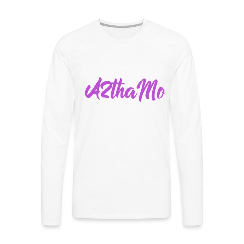 A2thaMo Logo Purple - Men's Premium Long Sleeve T-Shirt
