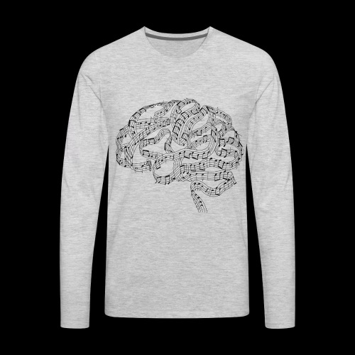 Sound of Mind | Audiophile's Brain - Men's Premium Long Sleeve T-Shirt
