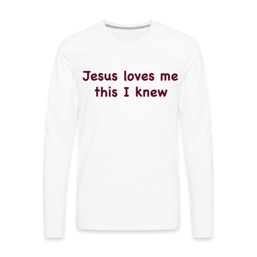 jesus loves me - Men's Premium Long Sleeve T-Shirt