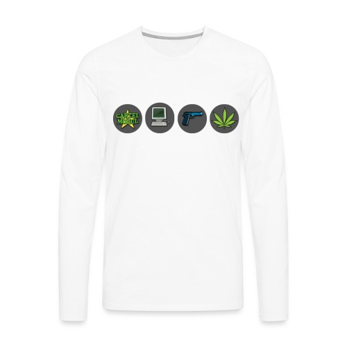 Cartel Mogul Game Icons - Men's Premium Long Sleeve T-Shirt