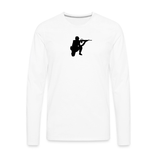 Infantry at ready for action. - Men's Premium Long Sleeve T-Shirt