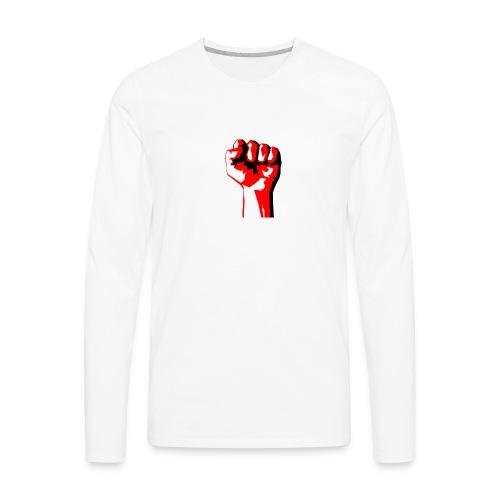 REEVVOLT fist MERCH - Men's Premium Long Sleeve T-Shirt