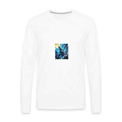 Blue lighting dragom - Men's Premium Long Sleeve T-Shirt