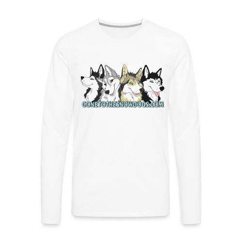 Siberian Husky Snow Dogs - Men's Premium Long Sleeve T-Shirt