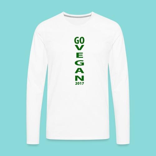 Go_Vegan_2017 - Men's Premium Long Sleeve T-Shirt