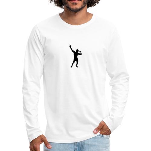Zyzz Silhouette vector - Men's Premium Long Sleeve T-Shirt