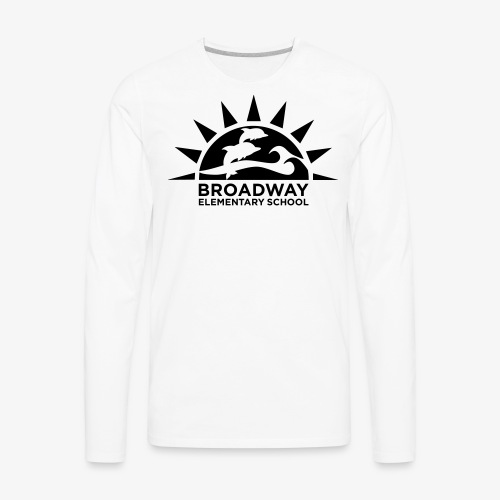 Broadway Elementary Logo - Men's Premium Long Sleeve T-Shirt