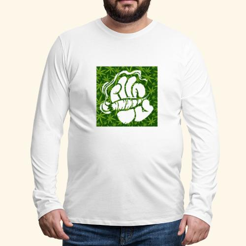 Hand with a joint - smoking weed 420 lifestyle - Men's Premium Long Sleeve T-Shirt