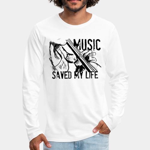 music is live - Men's Premium Long Sleeve T-Shirt