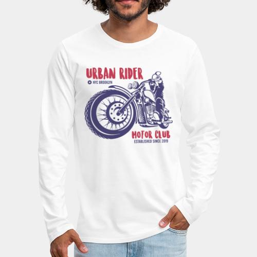 urban rider motorcycle biker - Men's Premium Long Sleeve T-Shirt