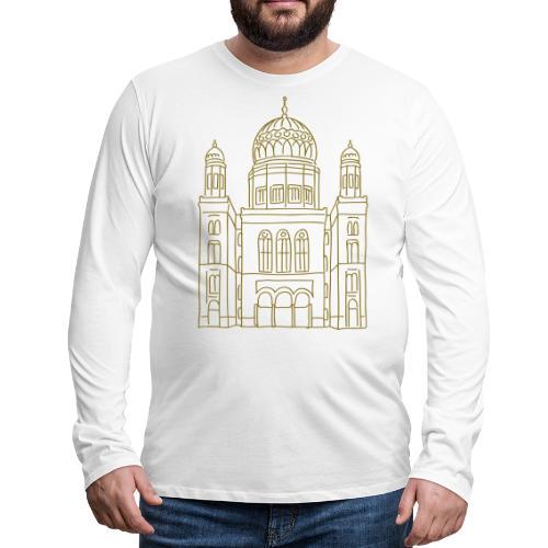 New Synagogue Berlin - Men's Premium Long Sleeve T-Shirt