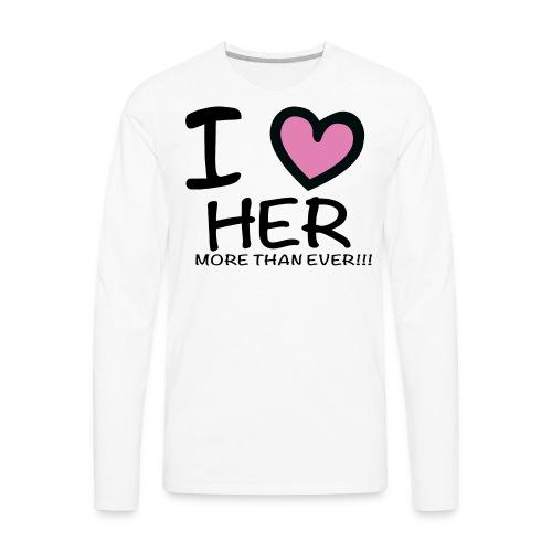 ILOVEHER - Men's Premium Long Sleeve T-Shirt