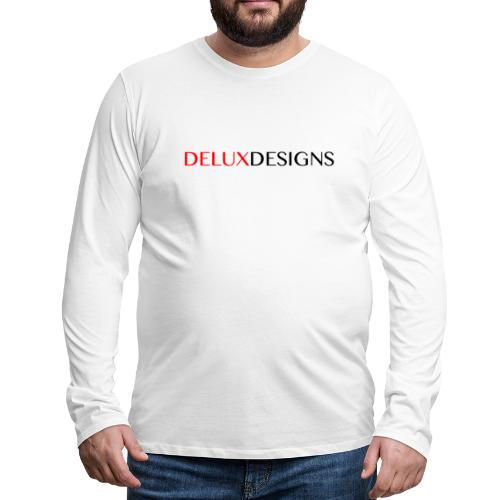 Delux Designs (black) - Men's Premium Long Sleeve T-Shirt