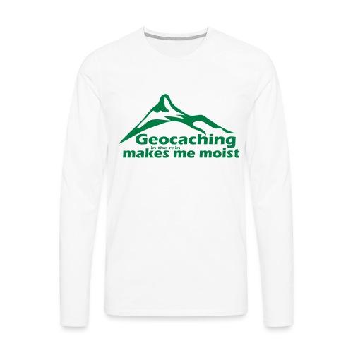 Geocaching in the Rain - Men's Premium Long Sleeve T-Shirt