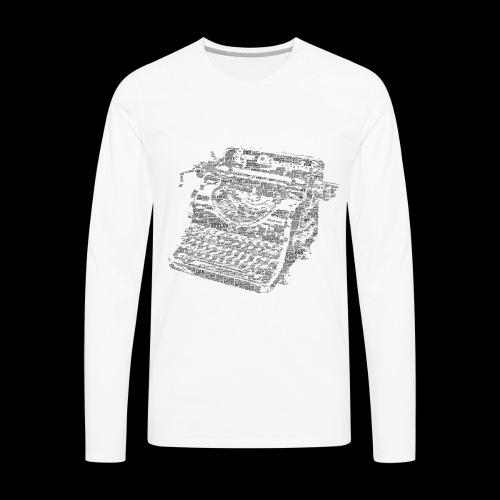 Typewritten Logophile - Men's Premium Long Sleeve T-Shirt