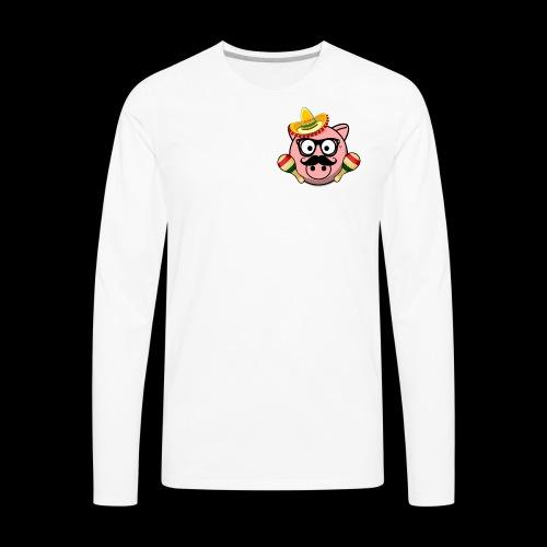 Senior Pig - Men's Premium Long Sleeve T-Shirt