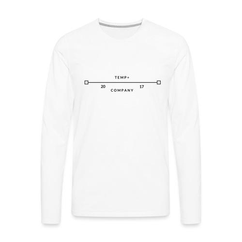 Temp+ 2nd design - Men's Premium Long Sleeve T-Shirt