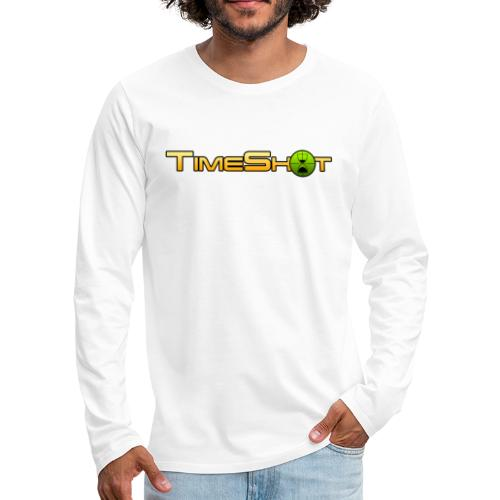 TimeShot Logo Text - Men's Premium Long Sleeve T-Shirt