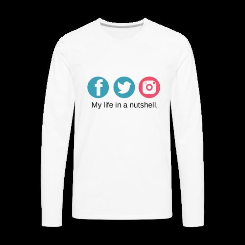 My Life In A Nutshell Social Media - Men's Premium Long Sleeve T-Shirt