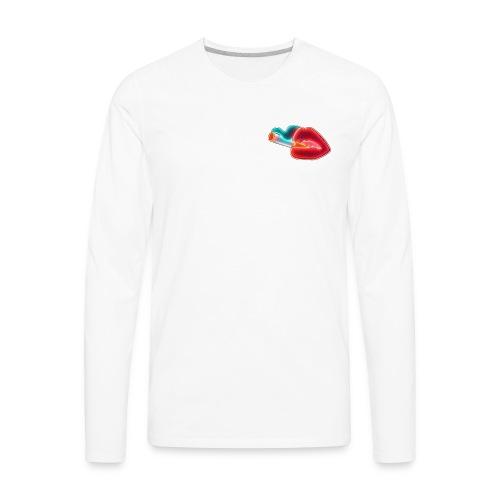 Neon Lips - Men's Premium Long Sleeve T-Shirt