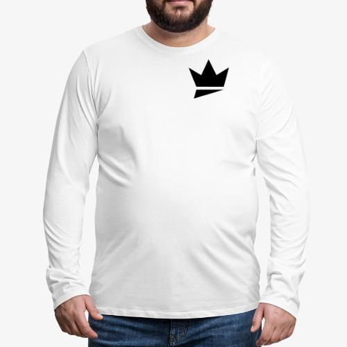 Crown Logo - Men's Premium Long Sleeve T-Shirt