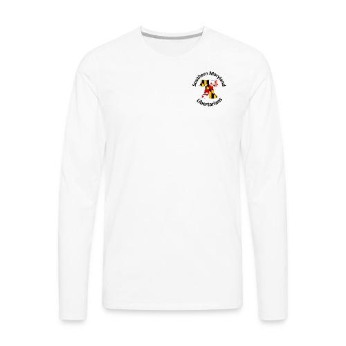 SOMD Libertarians Logo Outlined Bell No Shadow T - Men's Premium Long Sleeve T-Shirt