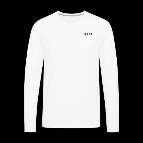 Oont Plain White Tee - Men's Premium Long Sleeve T-Shirt