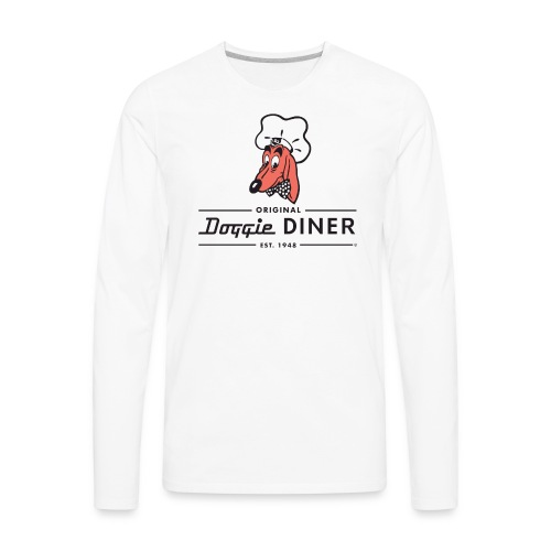 Doggie Diner Logo 1 with NO back color - Men's Premium Long Sleeve T-Shirt