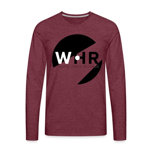 White Horse Records Logo - Men's Premium Long Sleeve T-Shirt