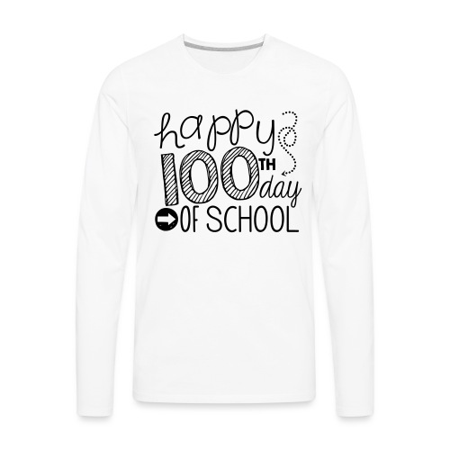 Happy 100th Day of School Arrows Teacher T-shirt - Men's Premium Long Sleeve T-Shirt