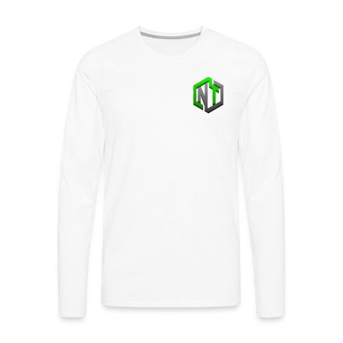 NayTendo GameCube Style Proffesional Logo - Men's Premium Long Sleeve T-Shirt