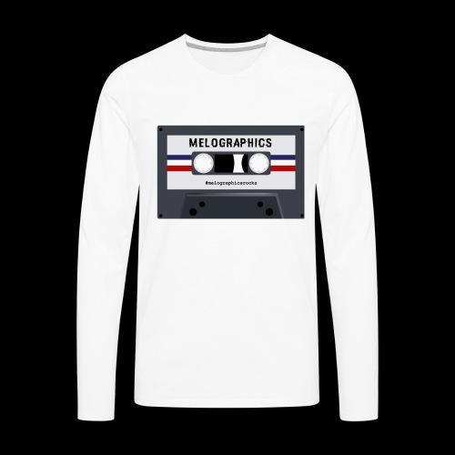 Retro Cassette #melographicsrocks - Men's Premium Long Sleeve T-Shirt
