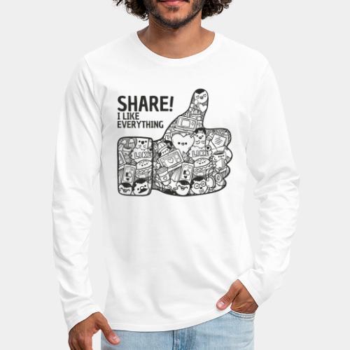 like social media - Men's Premium Long Sleeve T-Shirt