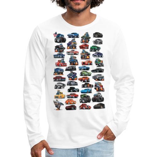 American Hot Rods, Muscle Cars, Pickup Trucks - Men's Premium Long Sleeve T-Shirt