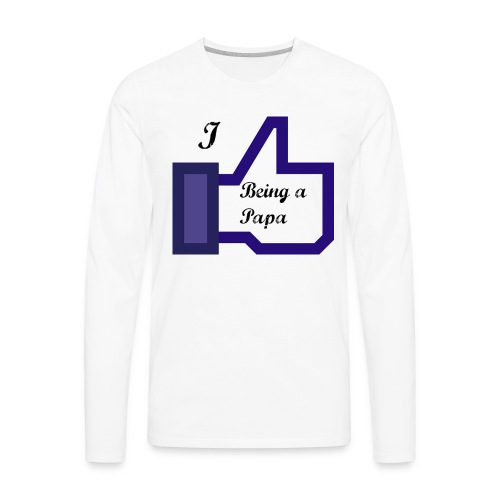 papa - Men's Premium Long Sleeve T-Shirt
