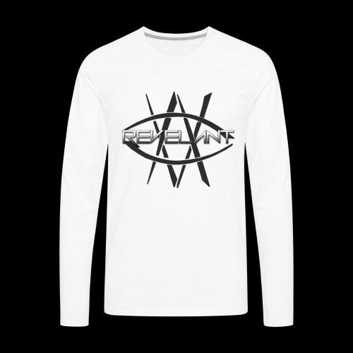 Revelant eye and text logo, black. - Men's Premium Long Sleeve T-Shirt