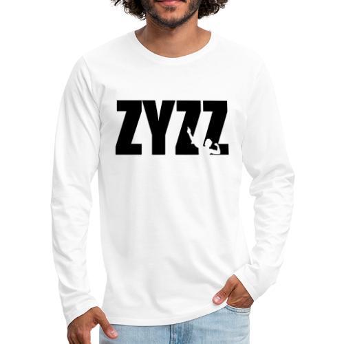 Zyzz text - Men's Premium Long Sleeve T-Shirt