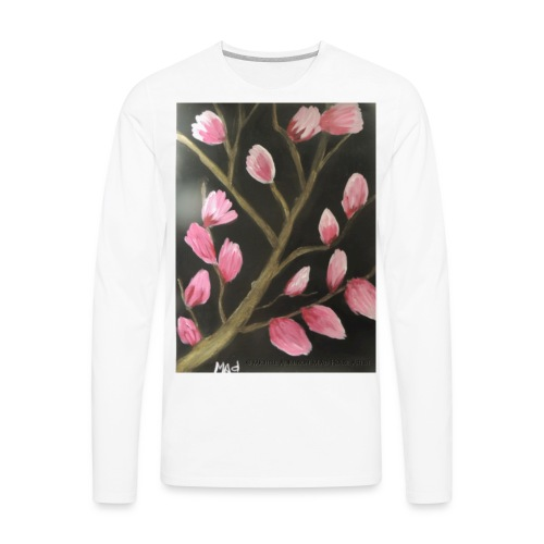 Magnolia Buds Early Spring - Men's Premium Long Sleeve T-Shirt