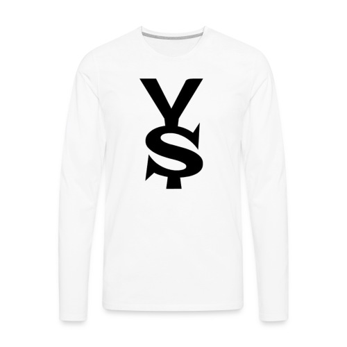 Black Yong Soul Logo - Men's Premium Long Sleeve T-Shirt