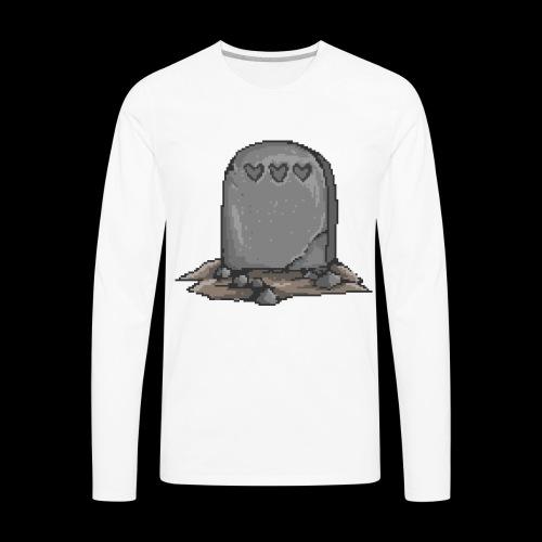No Life Left | Funny Gamer Grave - Men's Premium Long Sleeve T-Shirt