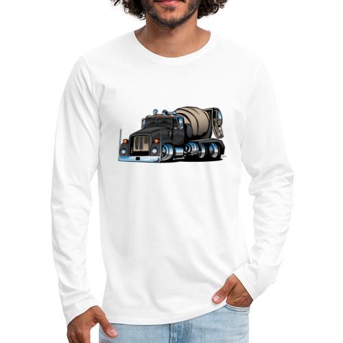 Cement Mixer Truck - Men's Premium Long Sleeve T-Shirt