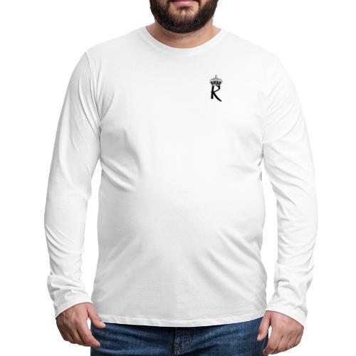 R with Crown - Men's Premium Long Sleeve T-Shirt