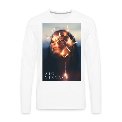 SicVintage Beauty in the Lignts - Men's Premium Long Sleeve T-Shirt