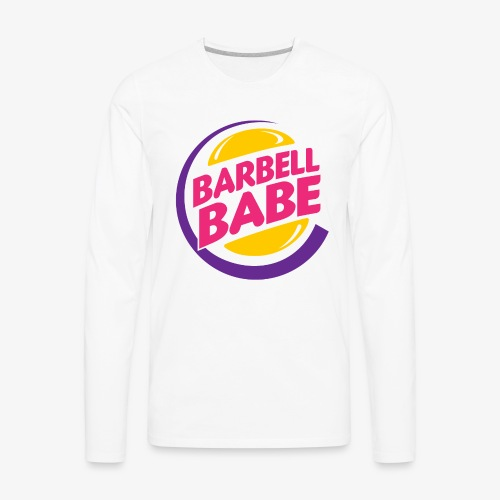 Barbell Babe - Men's Premium Long Sleeve T-Shirt
