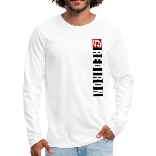 Red Iron Vertical Stripe (Black) - Men's Premium Long Sleeve T-Shirt
