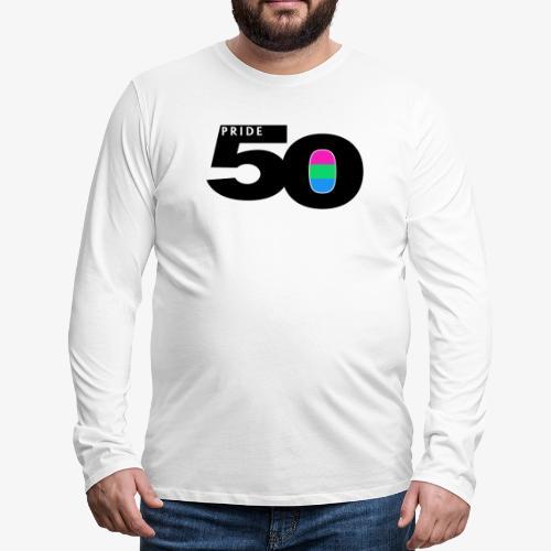 50 Pride Polysexual Pride Flag - Men's Premium Long Sleeve T-Shirt