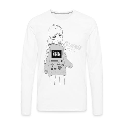 Game Over Kawaii - Men's Premium Long Sleeve T-Shirt